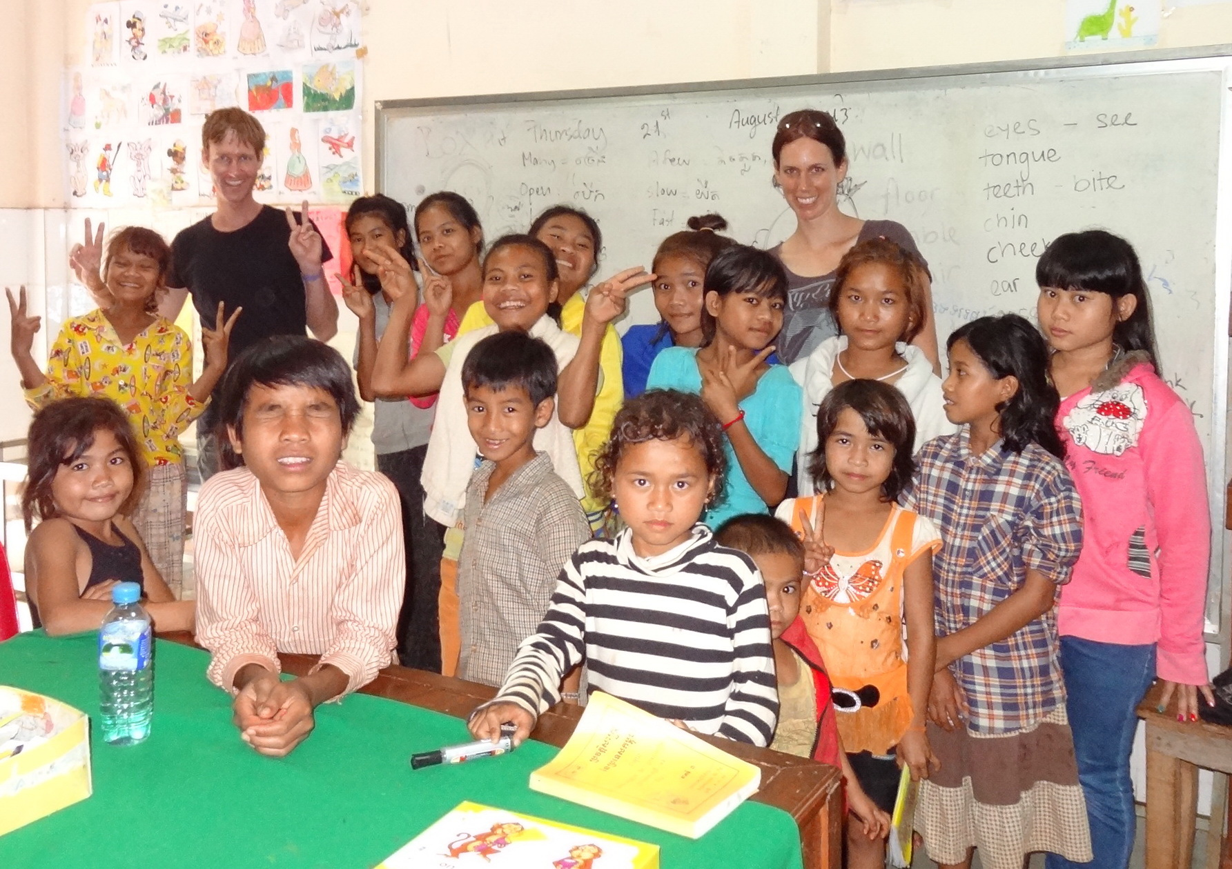 Cambodia Orphanage Class