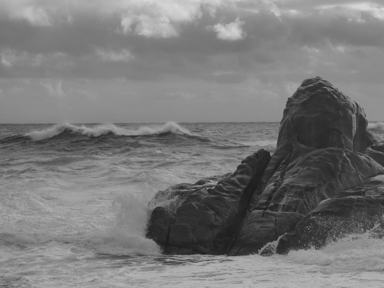 Australia Canal Rocks Wave BW